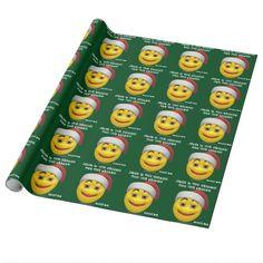 Jesus Season Smiley Agrainofmustardseed.com Gift Wrapping Paper #ItsAChristianThing #JesusSeason