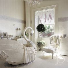 Make way for Ducklings Swan nursery by Pamela Copeman Design Group #custom #crib #Boston