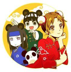 team gai panda style . come on neji just for tenten XD
