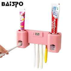 Cheap automatic toothpaste dispenser, Buy Quality toothpaste dispenser directly from China bathroom accessories Suppliers: BAISPO Bathroom accessories Products Clock Automatic Toothpaste Dispenser +Toothbrush Holder Set Wall Mount Rack Bath Oral Unicorn Room Decor, Unicorn Rooms, Unicorn Bedroom, Little Girl Toys, Toys For Girls, Toothbrush Holder Wall, Toothpaste Squeezer, Wall Mount Rack, Support Mural