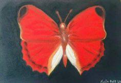 Mariposa  Técnica a Pastel en papel Canson A4.