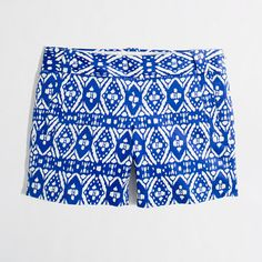 """j crew 5"""" printed stretch chino short...someone get me a 50$ gift card to j crew please! Haha"""