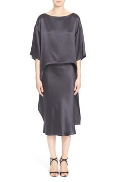 Narciso Rodriguez Silk Cocktail Dress available at #Nordstrom
