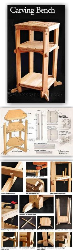 Wood Carving Bench Plans - Wood Carving Patterns and Techniques | WoodArchivist.com