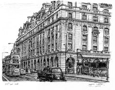The Ritz Hotel, Piccadilly, London - drawings and paintings by Stephen Wiltshire MBE