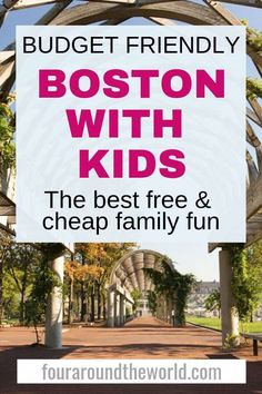 Budget friendly Boston travel - The best fun cheap or free things to do in Boston with kids so you can enjoy a Boston vacation without spending a fortune! What to do in Boston with kids boston familytravel budgettravel 665266176189231435 Traveling With Baby, Travel With Kids, Family Travel, Traveling By Yourself, Best Vacations With Kids, Family Vacations, Boston Vacation, Boston Travel, Boston Things To Do