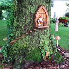 Garden Design Gnome Home Fairy Garden - Some are large and intricate, while others are simple. No matter how big or small, a DIY fairy garden can add some whimsical fun to your landscape. Here are 15 DIY fairy gardens you have to see. Garden Furniture Design, Fairy Garden Furniture, Fairy Garden Houses, Gnome Garden, Furniture Ideas, Fairy Gardening, Garden Plants, Gardening Tips, Garden Fun