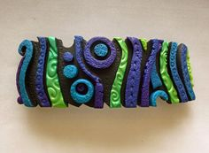 Hey, I found this really awesome Etsy listing at https://www.etsy.com/listing/192669809/circus-barrette-large-in-blue-purple