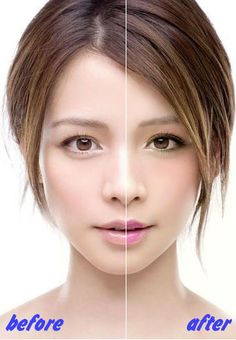 It's made from a makeup software, which called perfect365.   www.perfect365.com