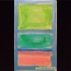 Sketchbook study today is very Rothko calming yet there's and underlining feeling of tension like something big is about to begin. #sketch #sketchbook #art #rothko #coloroftheyear2017 #instagood #instaart #abstract #expressionism #krystyphyr #oilpastel