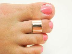 8c1bec84b 14K Rose Gold Wide Toe Ring - Real 14 Karat Rose Gold Toe Ring - Super Wide  14K Rose Gold Toe Ring - 14K Rose Gold Toe Cuff