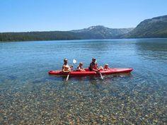 Kayaking on Fallen Leaf Lake