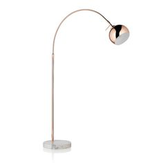 Copper and marble floor lamp - £129