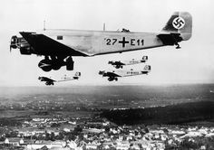 """Junkers Ju 52 - The Tante Ju (""""Auntie Ju"""") was the main workhorse of the Luftwaffe transport units for the duration of the war. Pinned from germanwarmachine.com"""