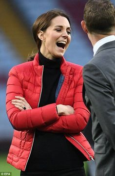 The Duchess, who recently overcame a but of severe morning sickness, was in good spirits a...