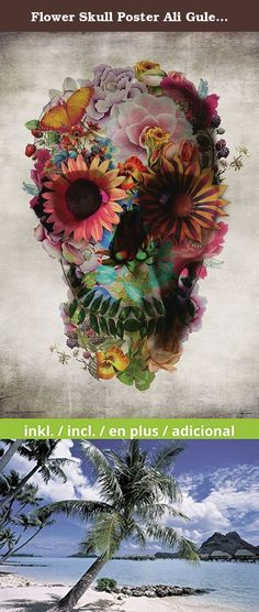 Flower Skull Poster Ali Gulec (61cm x 91,5cm) + a Bora Bora poster!. Flower Skull Poster Ali Gulec You will receive a new and high quality Bora Bora poster, when you order this poster! .