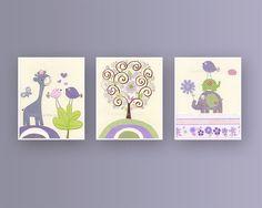 Baby Nursery Wall Art  Nursery art For baby girl by DesignByMaya, $50.00