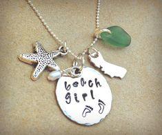 beach girl beach girl necklace beach girl jewelry by natashaaloha, $60.00