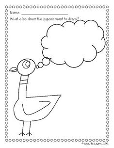 great activities for dont let the pigeon drive the bus and the