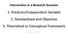 Include the intervention in your research question using the PICO framwork. Conceptual Framework, Research Question, Statistics, This Or That Questions, Big Data