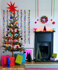 vibrant Christmas home decor full of color and cheer