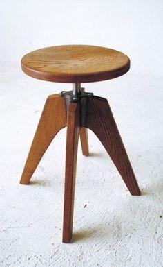 Modernist wooden stool