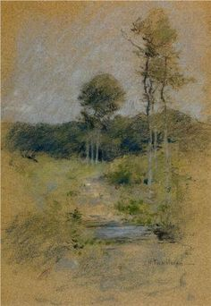Spring Landscape (also known as Spring in Marin County) - John Henry Twachtman
