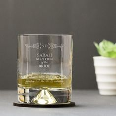 Engraved Dimple Base Tumbler - Classic Frame Design