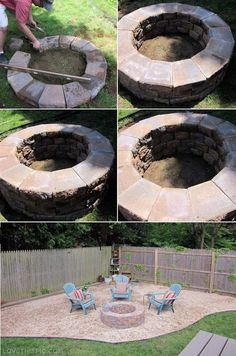 fire pit Cute quick way to transform your plain yard into something cute & unique!