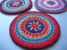 mandala wheels crochet pattern