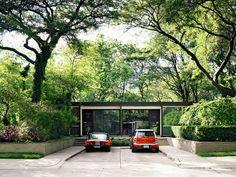 Lafayette Park, Detroit by Mies van der Rohe: street view Ludwig Mies Van Der Rohe, Residential Architecture, Modern Architecture, Australian Architecture, Beautiful Architecture, Atrium, Palm Springs, Villa, Lafayette Park