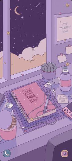 Cute Desktop Wallpaper, Cute Pastel Wallpaper, Purple Wallpaper Iphone, Anime Backgrounds Wallpapers, Soft Wallpaper, Anime Scenery Wallpaper, Cute Patterns Wallpaper, Aesthetic Pastel Wallpaper, Cute Anime Wallpaper