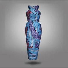 Impresión africana corte vestido rodilla ropa por HouseOfIzzi