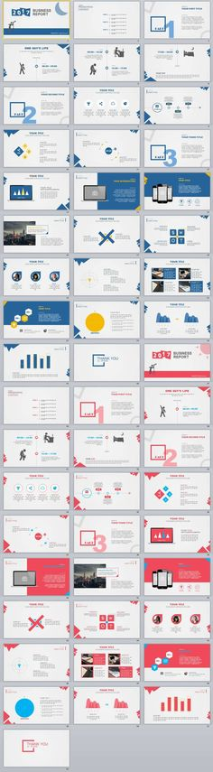 2 in1 Business Report PowerPoint Templates