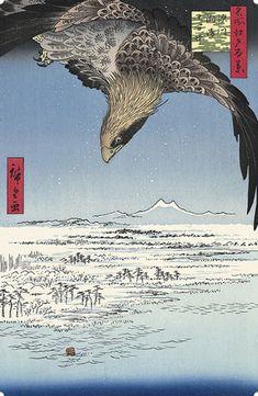 歌川広重 Hiroshige Utagawa 名所江戸百景 深川洲崎十万坪