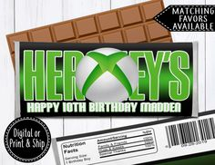 Hershey Bar, Personalized Chocolate, Fact Families, Thing 1, Foil Paper, Printing Labels, Custom Labels, Xbox, Lettering