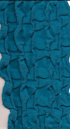 knitted cotton, scarf