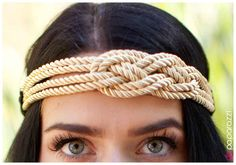 ONE OF THE BEST LOOKS OF THE SEASON! Oh, Romeo! headband Rich golden strands of tapestry-inspired rope overlap to create a central knot. The ropes attached to a stretchy black band for an adjustable fit. www.paparazziaccessories.com/27614