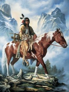 Western Art They Call Me Wolf-Native American by Russ Docken Native American Horses, Native American Warrior, Native American Paintings, Native American Wisdom, Native American Pictures, Native American Beauty, American Indian Art, Native American History, American Indians