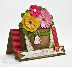 Splotch Design - Jacquii McLeay Independent Stampin' Up! Demonstrator: Flower Pot Birthday Card