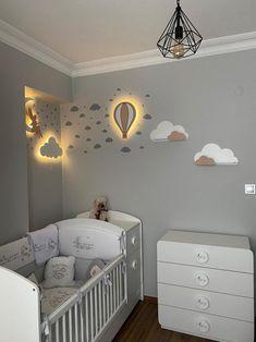 Boy Toddler Bedroom, Baby Boy Rooms, Baby Boy Nurseries, Kids Bedroom, Baby Room, Box Room Nursery, Clouds Nursery, Nursery Inspiration, Girl Room
