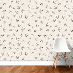 Papel de Parede Adesivo Birds - Papel de Parede e Adesivos Decorativos - AdsiveShop Double Room, Home Decor, Decorative Stickers, Wall Papers, Environment, Decoration Home, Room Decor, Home Interior Design, Home Decoration