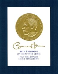 Obama Gold Embossed Print First and Second Term Print #CelebratingAmerica (click photo to purchase item!)