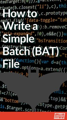 How to Write a Simple Batch (BAT) File #Programming #Coding #Batch #BAT