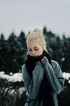 Girl all bundled up in the snow! #winter #photography