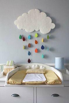 décoration chambre bébé nuage