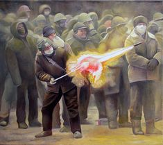 david molesky art   David Molesky, Surface to Air , oil on canvas, 18 x 20 inches