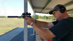 Friday at the range.  Bayou Rifles Addicks Range.   Shooting Suppressed .22s.  Browning Challenger,  Spectre and Rolex Seadweller 4000