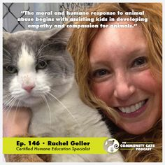 We are once again re-visiting an old friend of the podcast—Dr. Rachel Geller, VP of the Gifford Cat Shelter and certified humane education specialist. As a cat behavior counselor, Rachel has been busy giving talks at various youth organizations to teach children compassion towards animals. Rachel talks about the different types of humane education programming at Gifford, such as a program where children who lack confidence in reading or speaking aloud come to the shelter and read to a cat!
