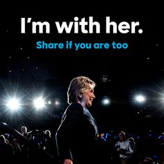 Of course, I'M WITH HER1 Democrats for Hillary Clinton's photo.